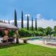 L'Orangerie Duras, poolside & marquee