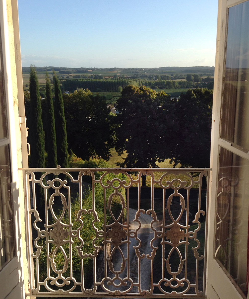 Orangerie Duras: view from windows