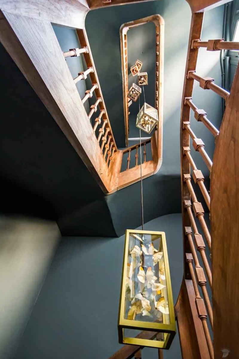 Orangerie Duras: 18th-century staircase